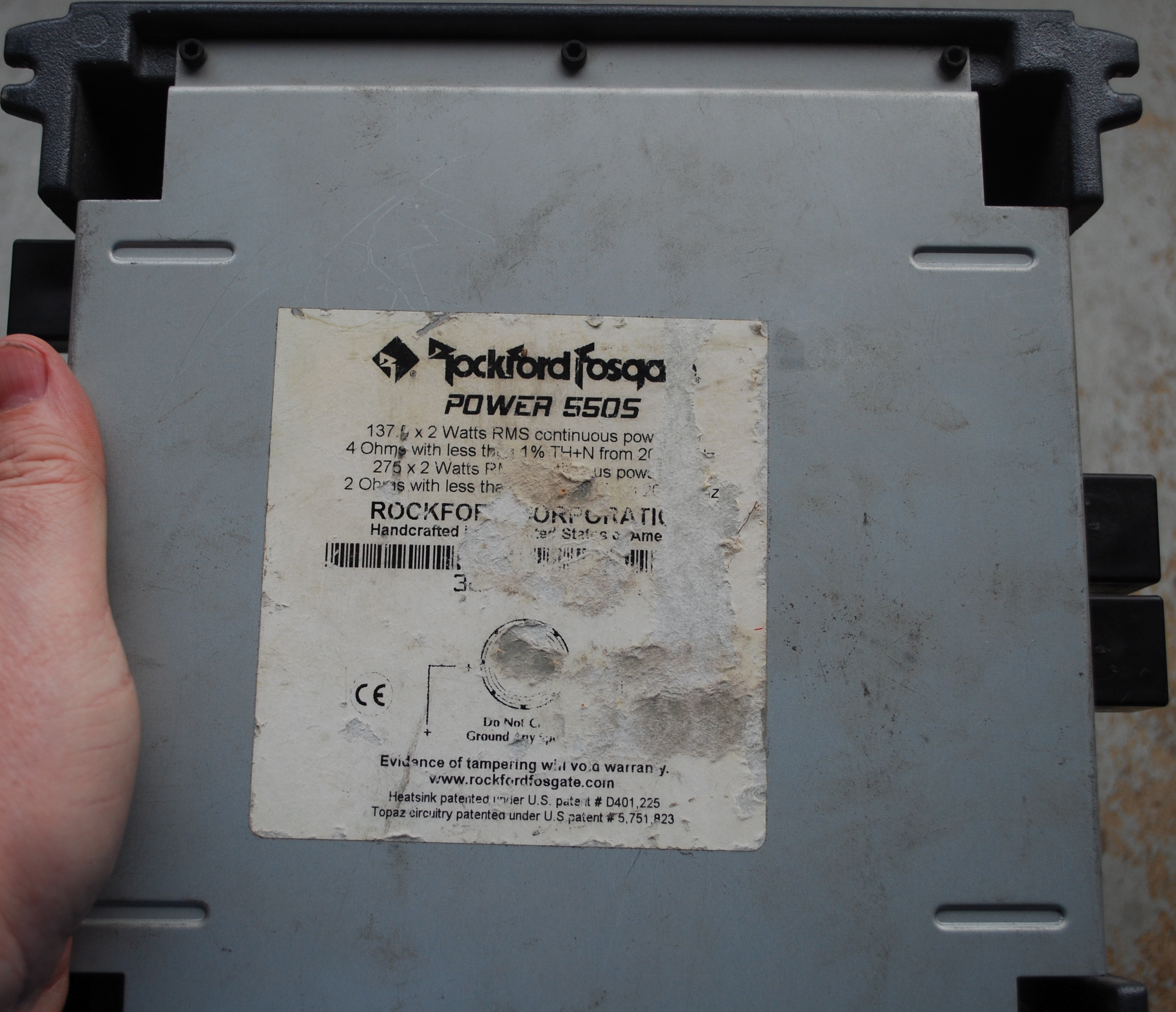 Old School Rockford Fosgate Power 550s Specs Click Image For Larger Version Name Dsc 0063 Views 239 Size